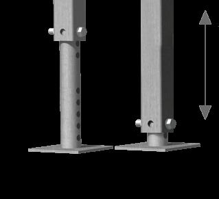 Portable Stairs Adjustable Leg illustration