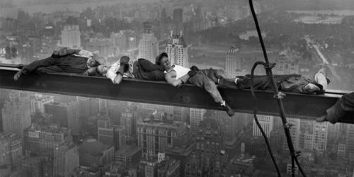 workplace safety fall protection old days