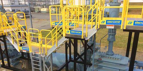 Aluminum-Stairs-on-a-Custom-Raised-Work-Area