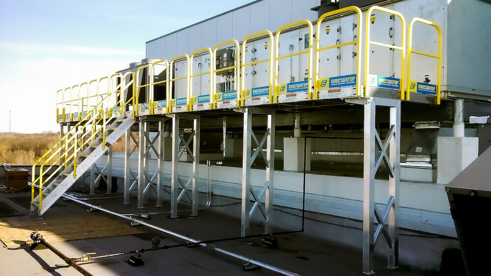 Elevated Maintenance Platform for HVAC Access
