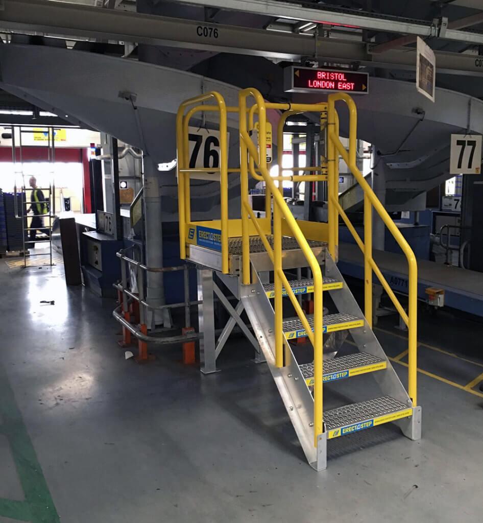 4 Stair With Work Platform