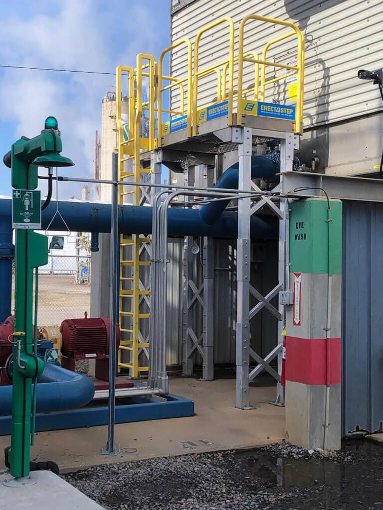 Custom Ladder and Platform Installation