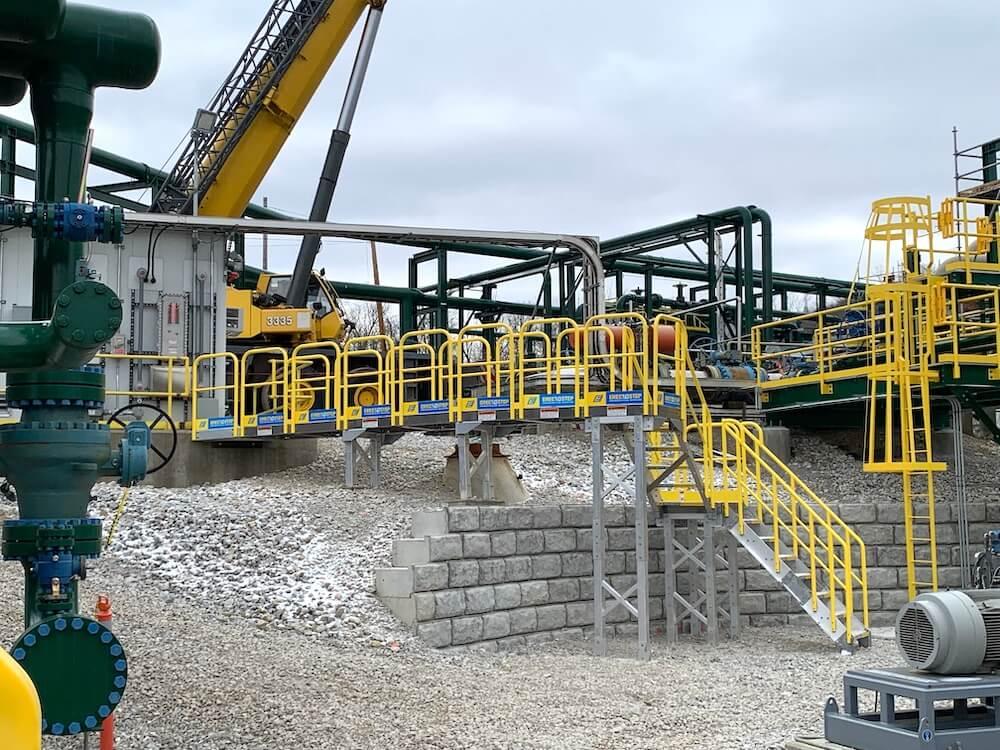 Custom Metal Stair Crossover Platform